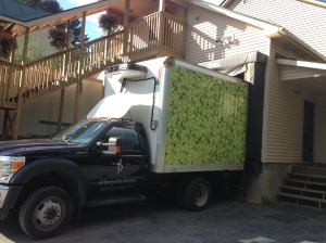 The Hop Truck pulls up to the brewery to do delicious hop things