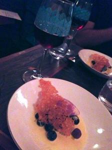 Justin Blåbær with Blueberry dessert