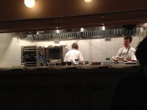 Open kitchen at Luksus