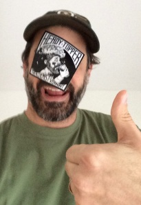Mike, the new BrewBoyz. Already one-up'ing us with his beer sticker.