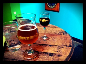 tasting at the brewery