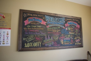 Check the board for events and specials
