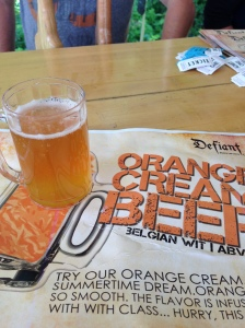 Defiant's Orange Cream Beer