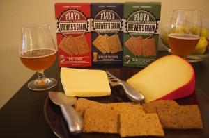 brewers grain crackers