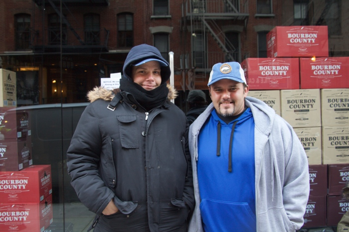 First and second in line: Patrick Kelley (left) and Mark Musacchia (right)