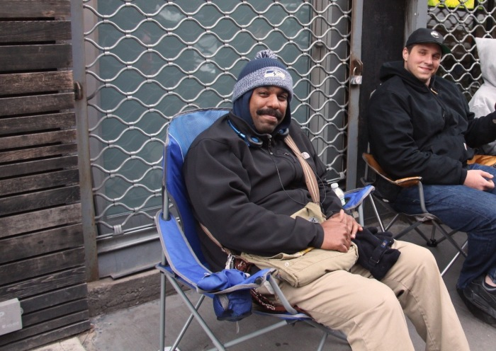 Marlon Irrizarry was first in line at 8 p.m. Thanksgiving Day