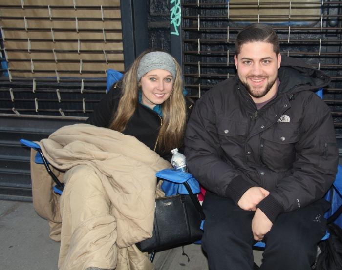 Matthew Szatkowski and Julia Ward arrived around 1 a.m.
